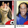 famous soccer player is a twin of Jar Jar Binks