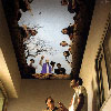 burial scene painted on the ceiling