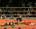 this dumb wrestler knocks himself out