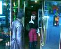 man slaps the woman face with door