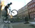 this guy can do miracles with his mountain bike
