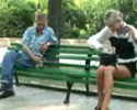 changing her panties in the park in this prank video