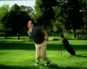 guy gets hit to his balls by golf ball in this fun clip