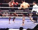 a fighter breaks his leg during kickboxing match