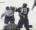 great hit is followed by fight in this NHL game